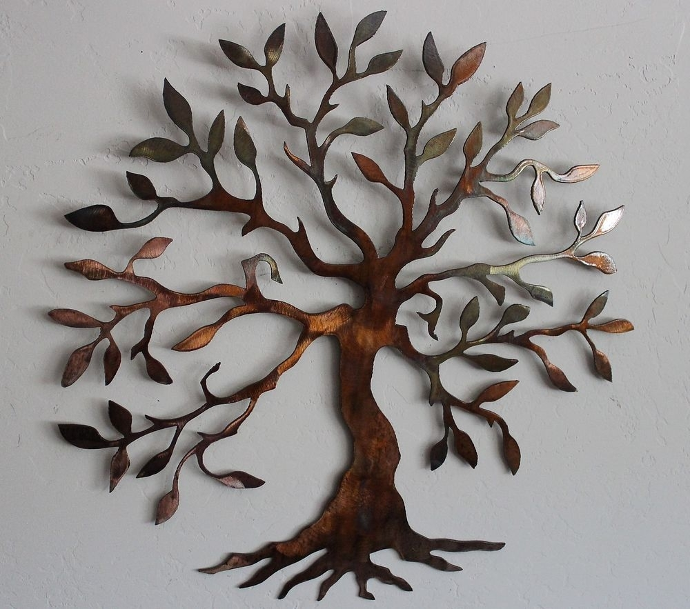 Olive Tree –tree Of Life Metal Wall Art Decor | Metal Wall Art Regarding Most Popular Abstract Leaf Metal Wall Art (View 17 of 20)