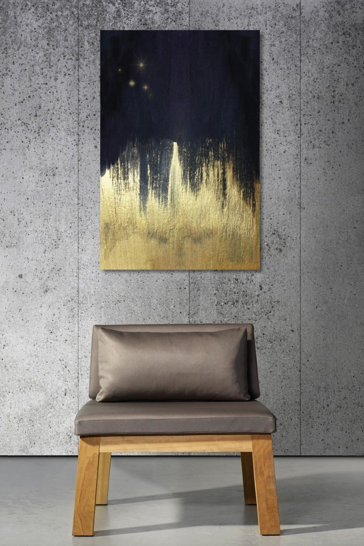 Oliver Gal Starry Night Fine Art Canvas | Art | Pinterest | Oliver regarding 2017 Black And Gold Abstract Wall Art