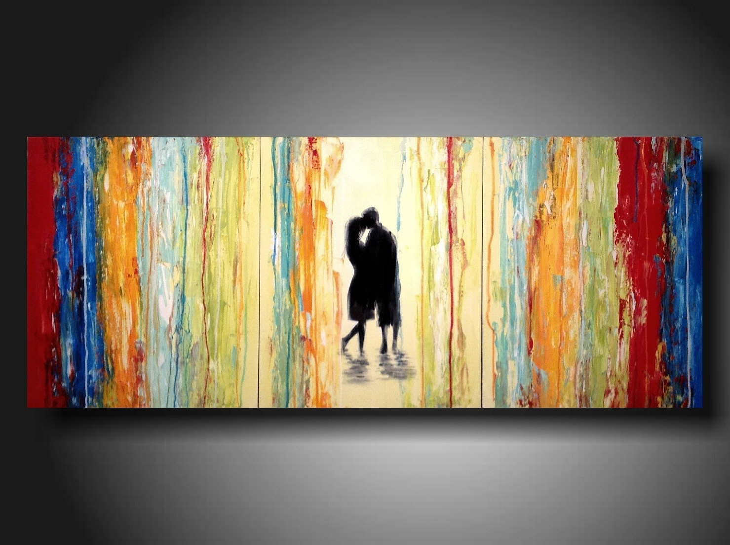 Original Large Abstract Painting – 24 X 36 Inches By Artist For Recent Long Abstract Wall Art (View 13 of 20)