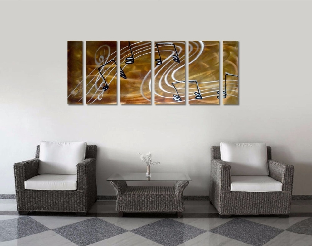 Original Music Notes Abstract Aluminum Wall Art Metal Wall intended for Newest Aluminum Abstract Wall Art