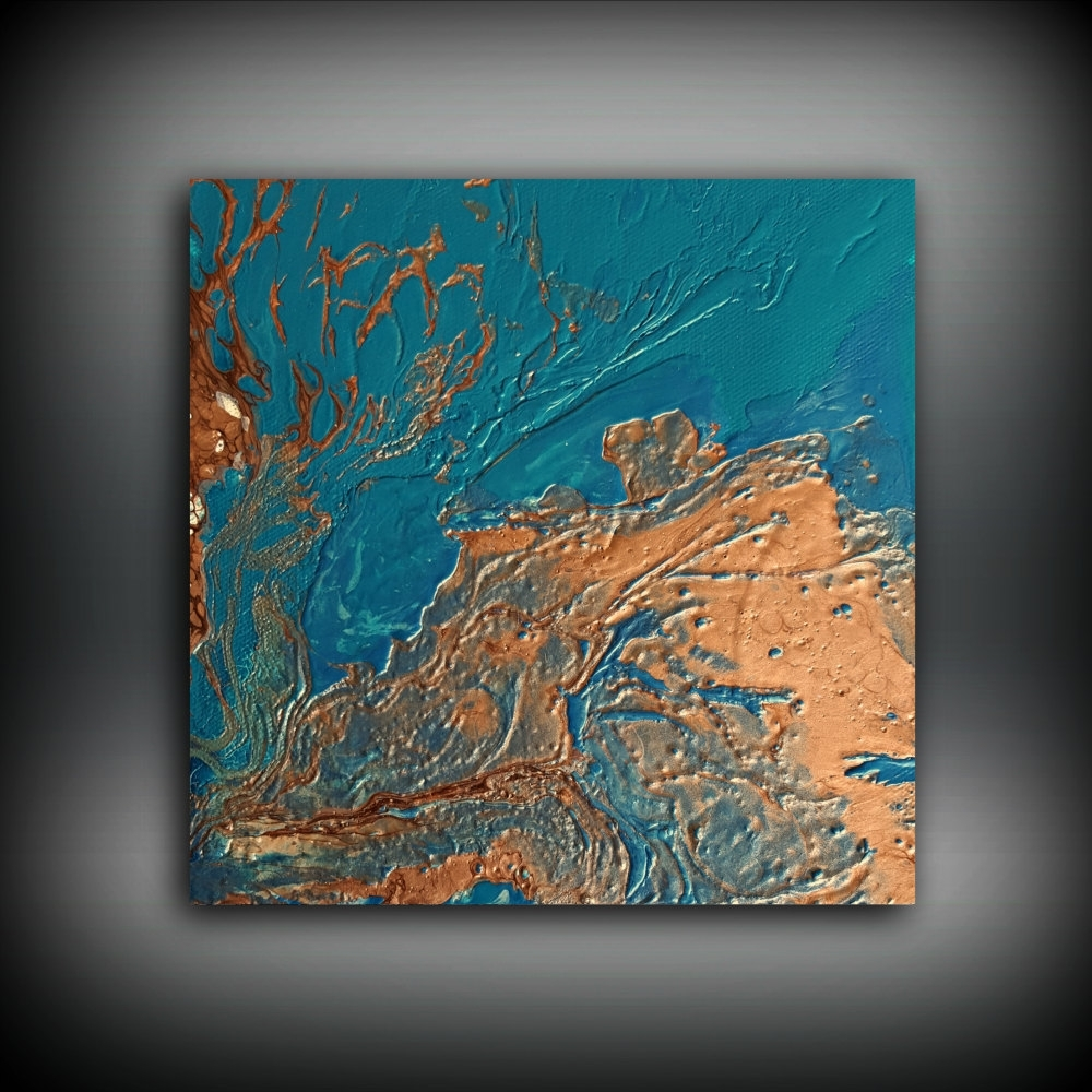 Original Painting Art Painting Acrylic Painting Abstract Painting Intended For 2017 Abstract Copper Wall Art (Gallery 19 of 20)