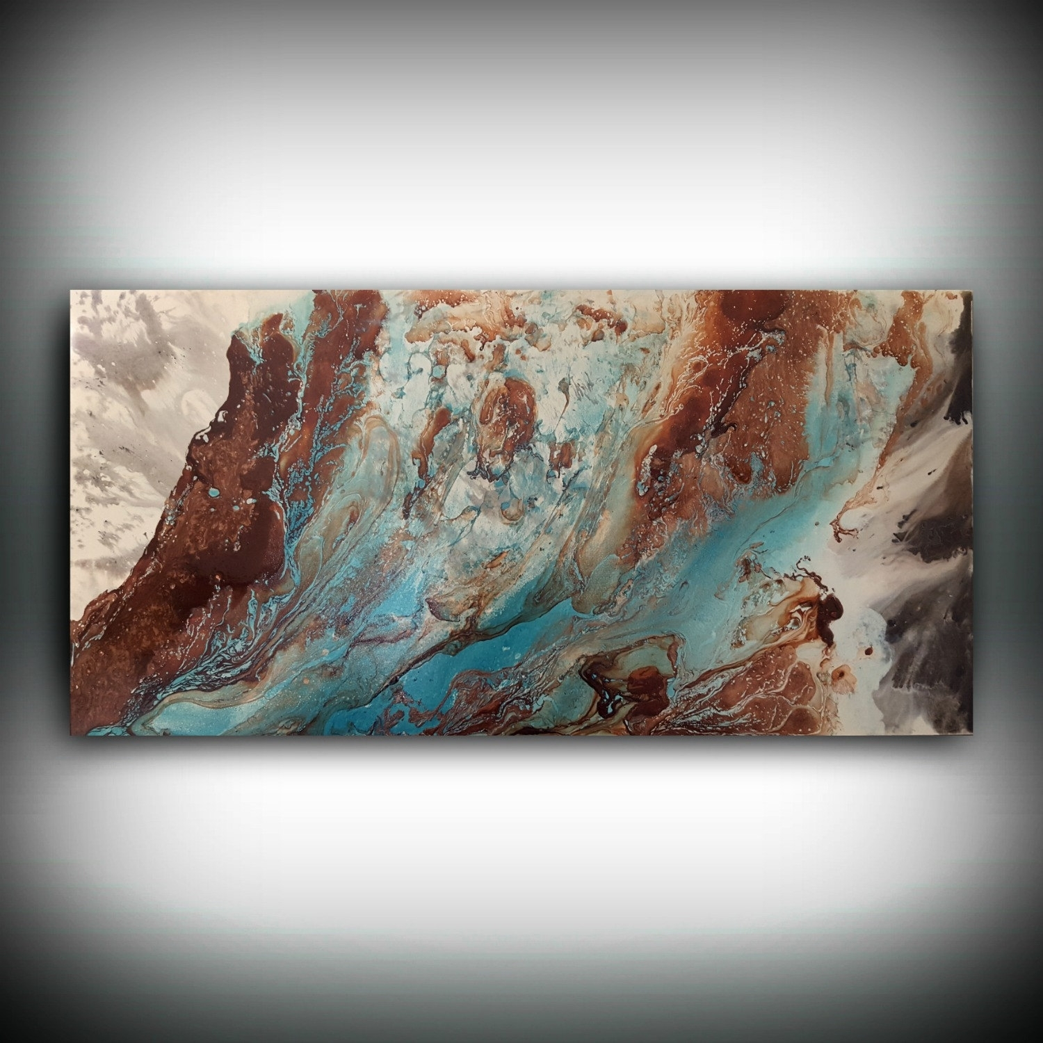 Original Painting, Art Painting Acrylic Painting Abstract Painting Pertaining To Most Recently Released Blue And Brown Abstract Wall Art (View 8 of 20)