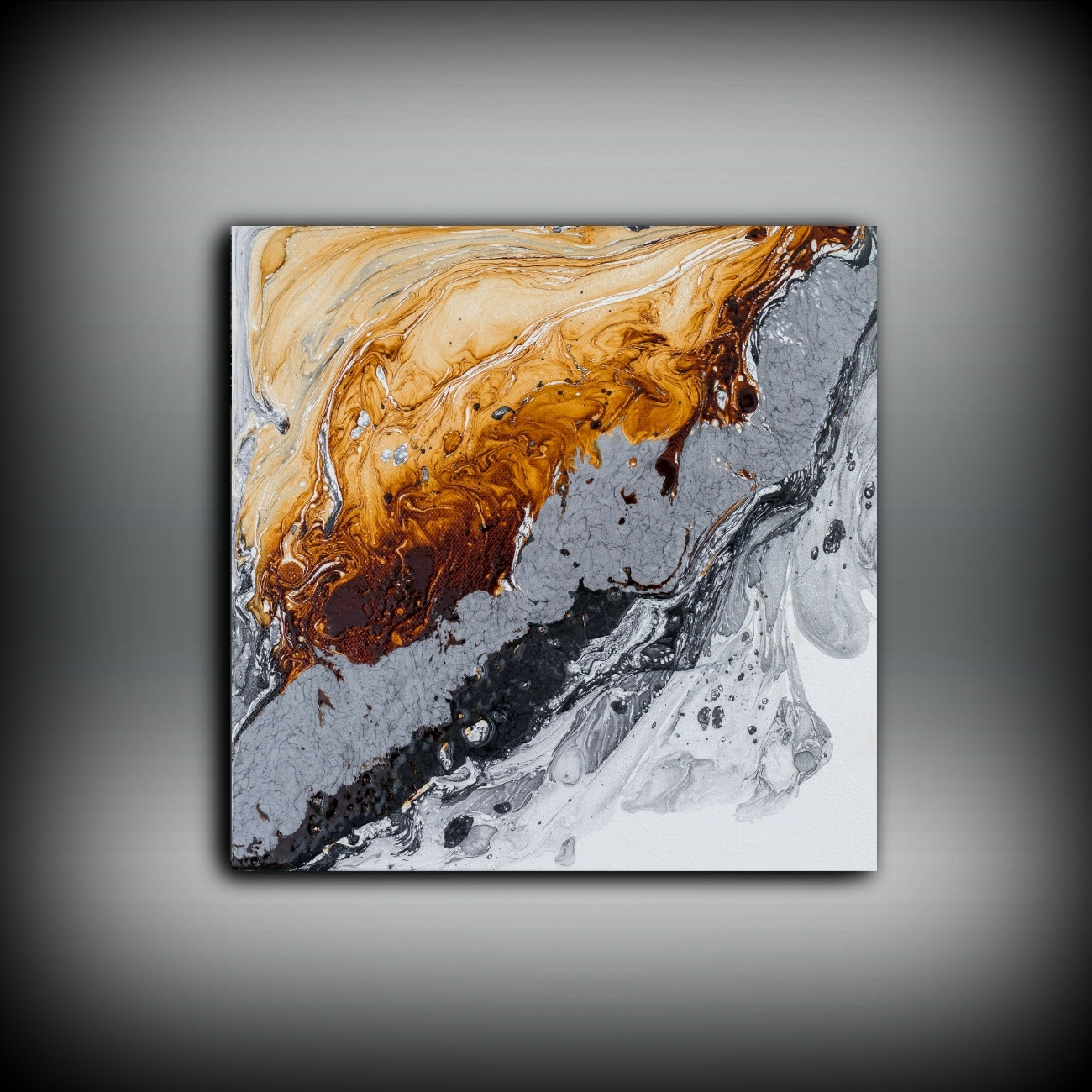 Original Painting Art Painting Oil Painting Abstract Painting Throughout Latest Abstract Copper Wall Art (View 6 of 20)
