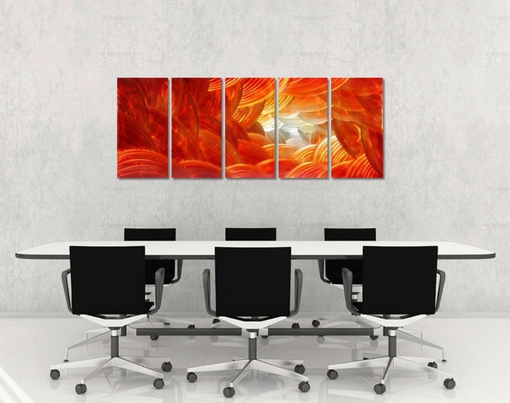 Original Red Abstract Aluminum Wall Art Metal Painting Colorful Inside Best And Newest Abstract Aluminium Wall Art (Gallery 12 of 20)