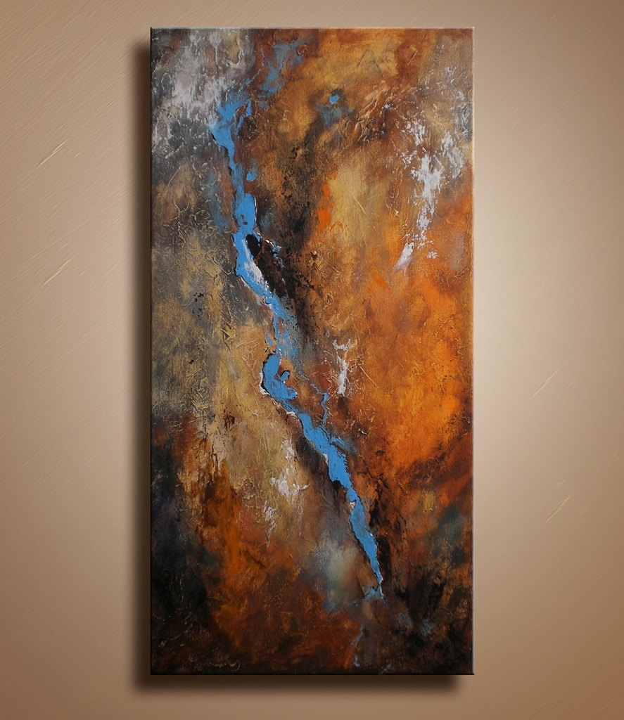 Original Textured Abstract Painting On Canvas Contemporary Fine Within Latest Abstract Art Wall Hangings (Gallery 4 of 20)