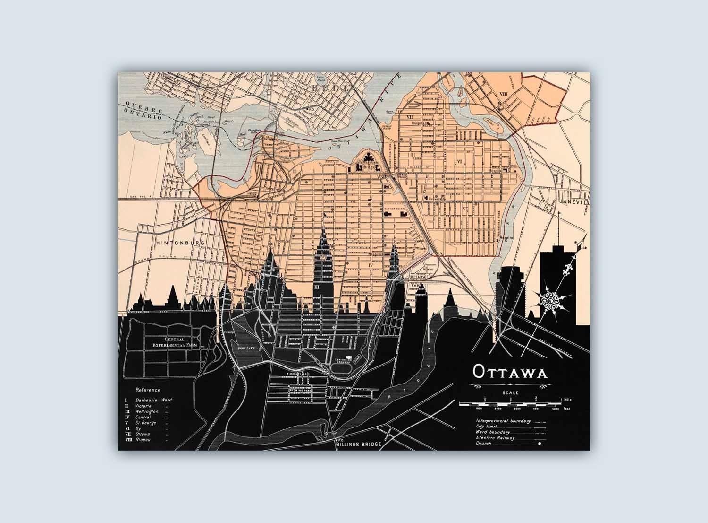 Ottawa Skyline, Ottawa Wall Art, Ottawa Art Print, Ottawa Decor In Recent Ottawa Abstract Wall Art (View 2 of 20)