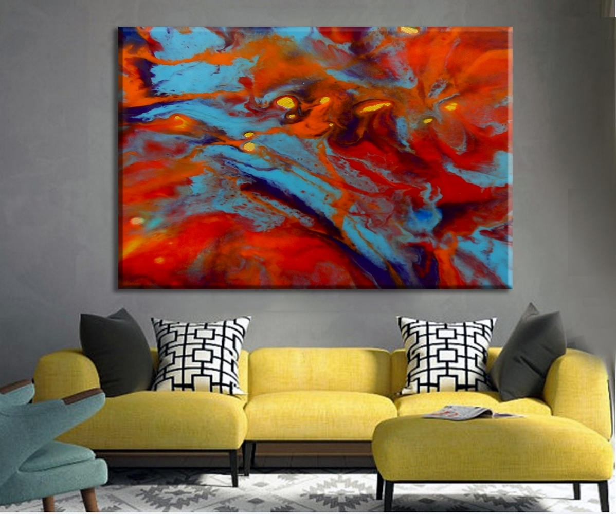 Oversize Art Print, Colorful Art, Large Canvas Print, Abstract With Regard To Best And Newest Abstract Oversized Canvas Wall Art (View 14 of 20)