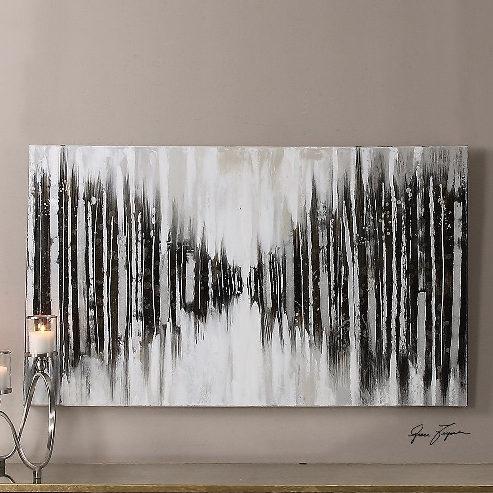 Oversized Abstract Wall Art – Black And White | Abstract Wall Art Inside Latest Gray Abstract Wall Art (View 12 of 20)