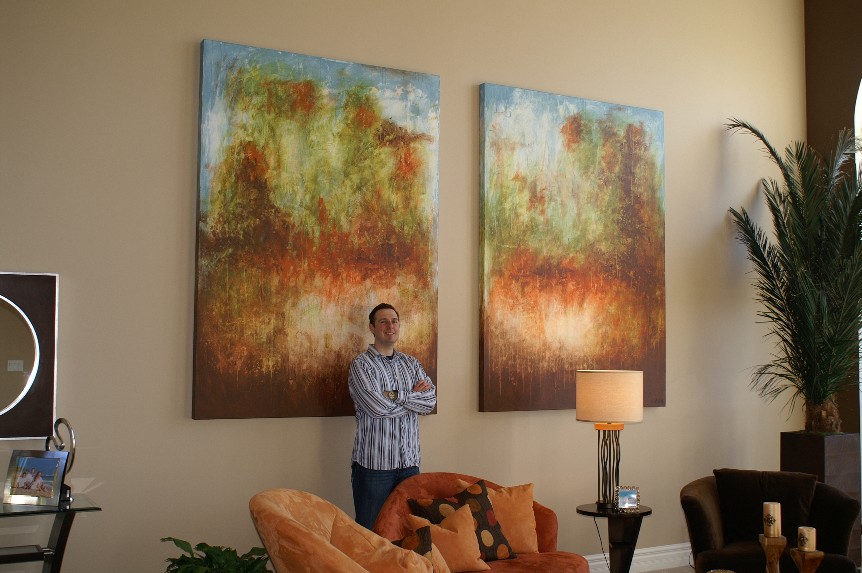 Oversized Commissioned Painting For A Two Story Great Room – Andy Intended For Most Up To Date Huge Abstract Wall Art (View 13 of 20)