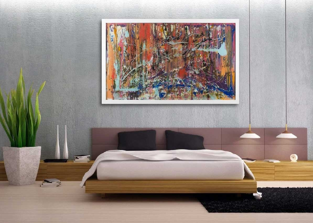Oversized Wall Art Contemporary Abstract Canvas | Home Interior With Regard To Best And Newest Contemporary Abstract Wall Art (Gallery 17 of 20)