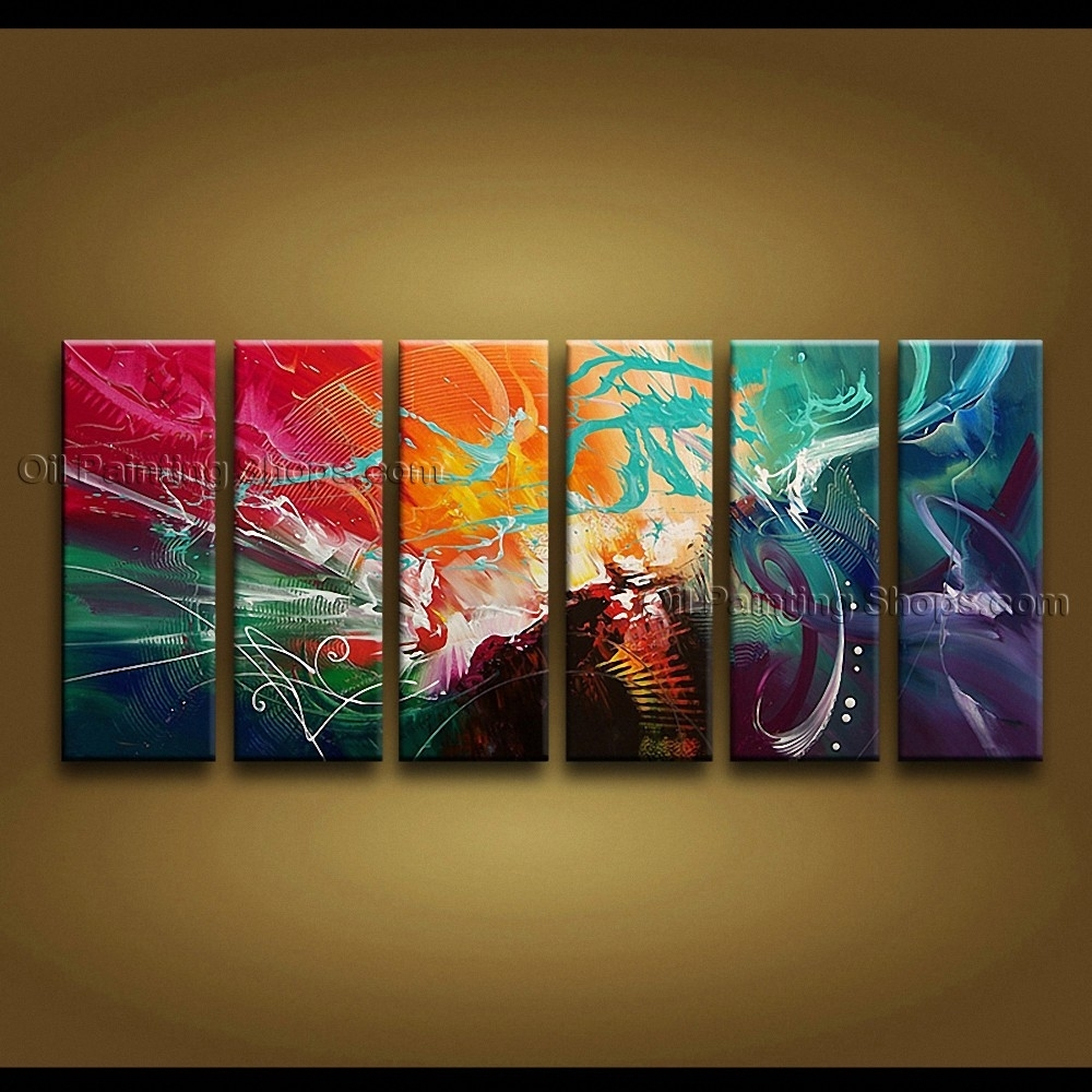 Painted Huge Modern Abstract Painting Wall Art Decoration Ideas Throughout 2017 Modern Abstract Huge Oil Painting Wall Art (View 17 of 20)