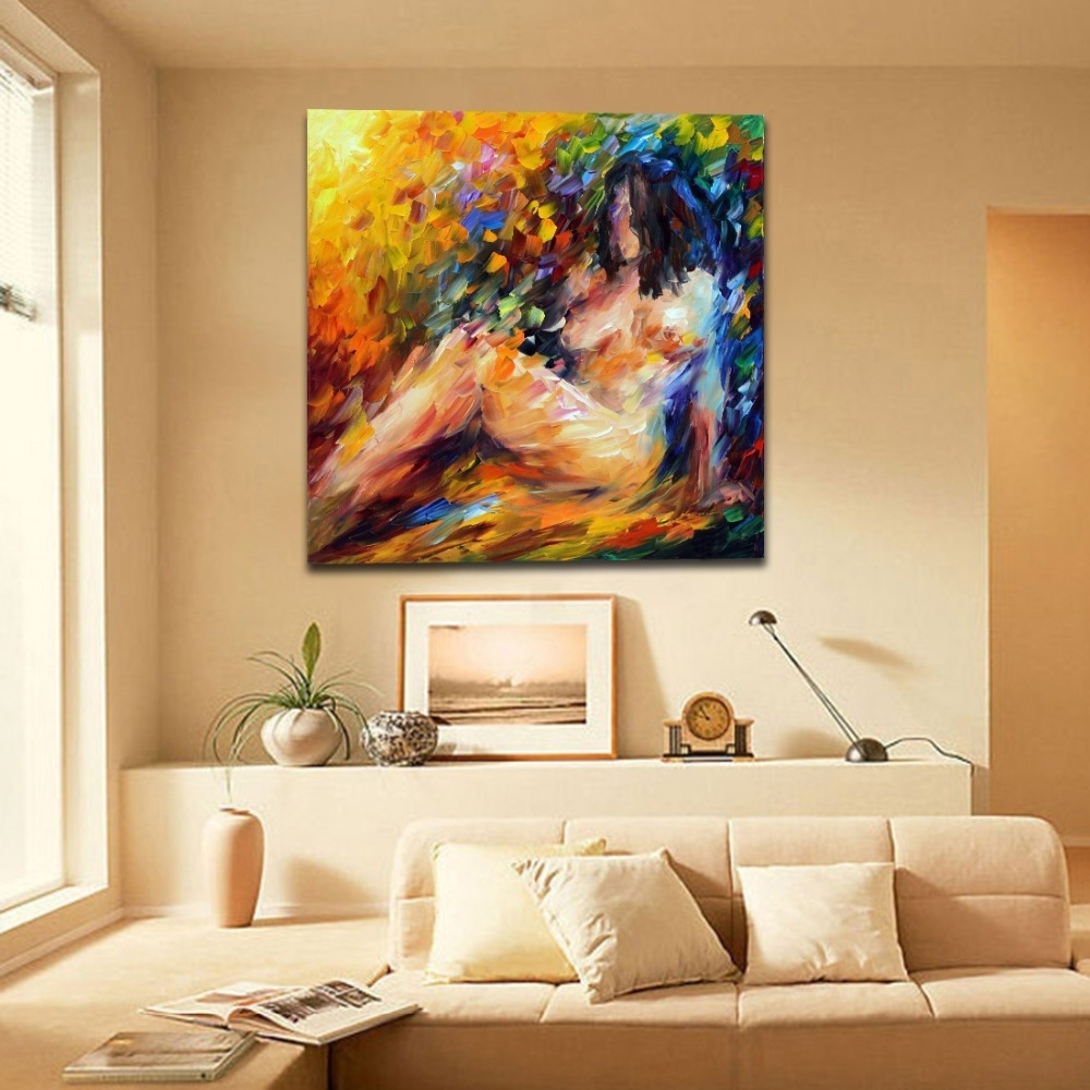 Palette Knife Oil Picture Abstract Painting Nude Woman Naked Body with Most Up-to-Date Abstract Body Wall Art