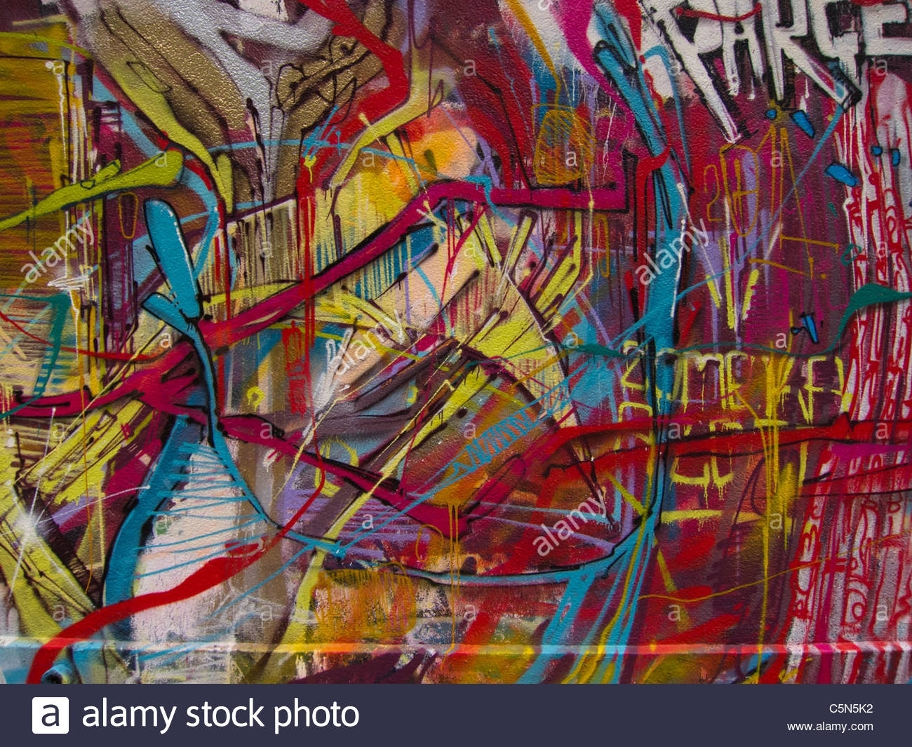 Paris, France, Wall Paintings, Graffiti, Street Art, Abstract Intended For 2017 Abstract Graffiti Wall Art (View 18 of 20)