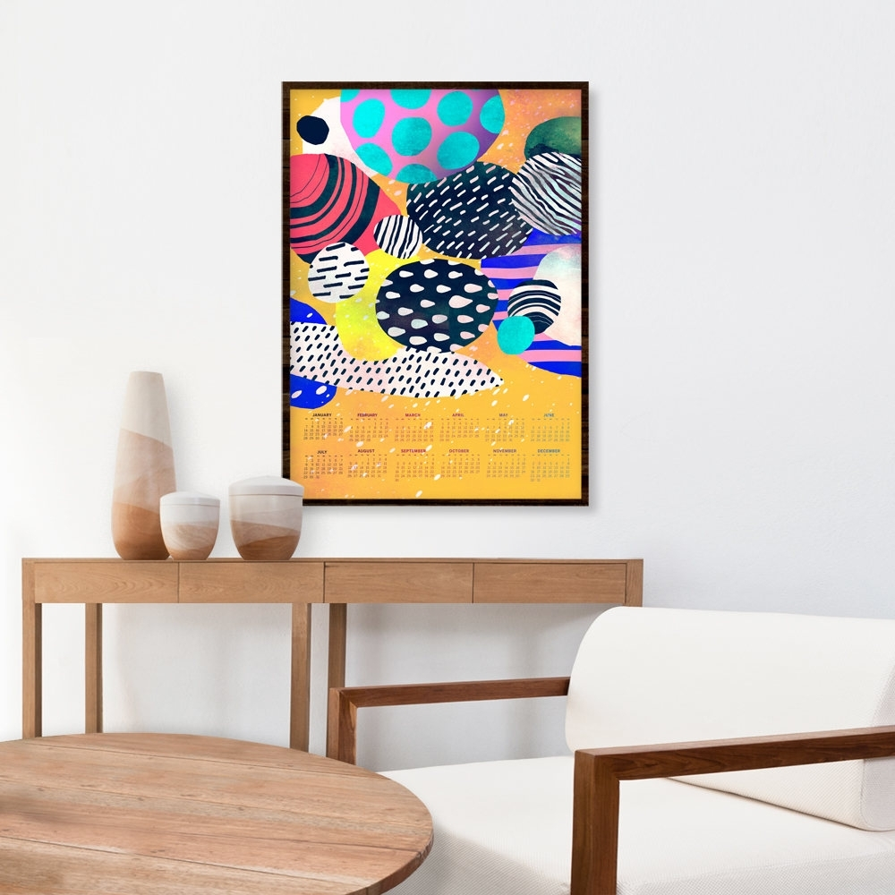 Poster Calendar 2018, Modern Calendar, Unique Calendar, Abstract Within Most Recently Released Abstract Calendar Art Wall (View 7 of 20)