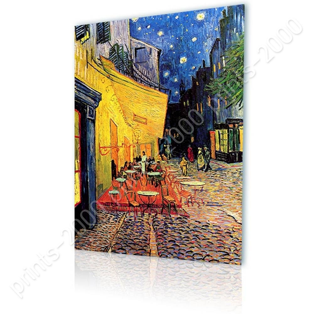 Poster Or Sticker Decals Vinyl Cafe Terrace Vincent Van Gogh Wall in Most Current Vincent Van Gogh Wall Art