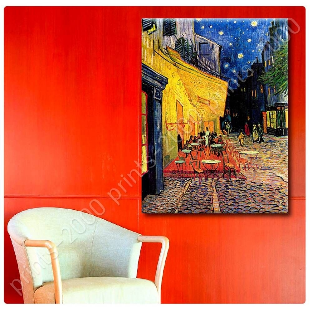 Poster Or Sticker Decals Vinyl Cafe Terrace Vincent Van Gogh Wall Throughout Newest Vincent Van Gogh Wall Art (View 14 of 20)