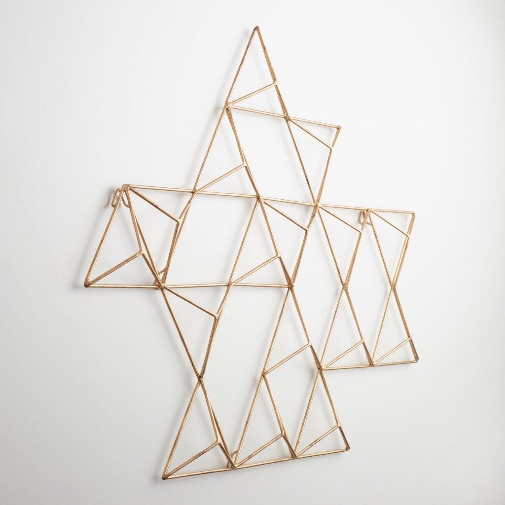 Pretty Design Ideas Geometric Metal Wall Art With Jaxon Triangle Within 2017 Abstract Geometric Metal Wall Art (View 15 of 20)