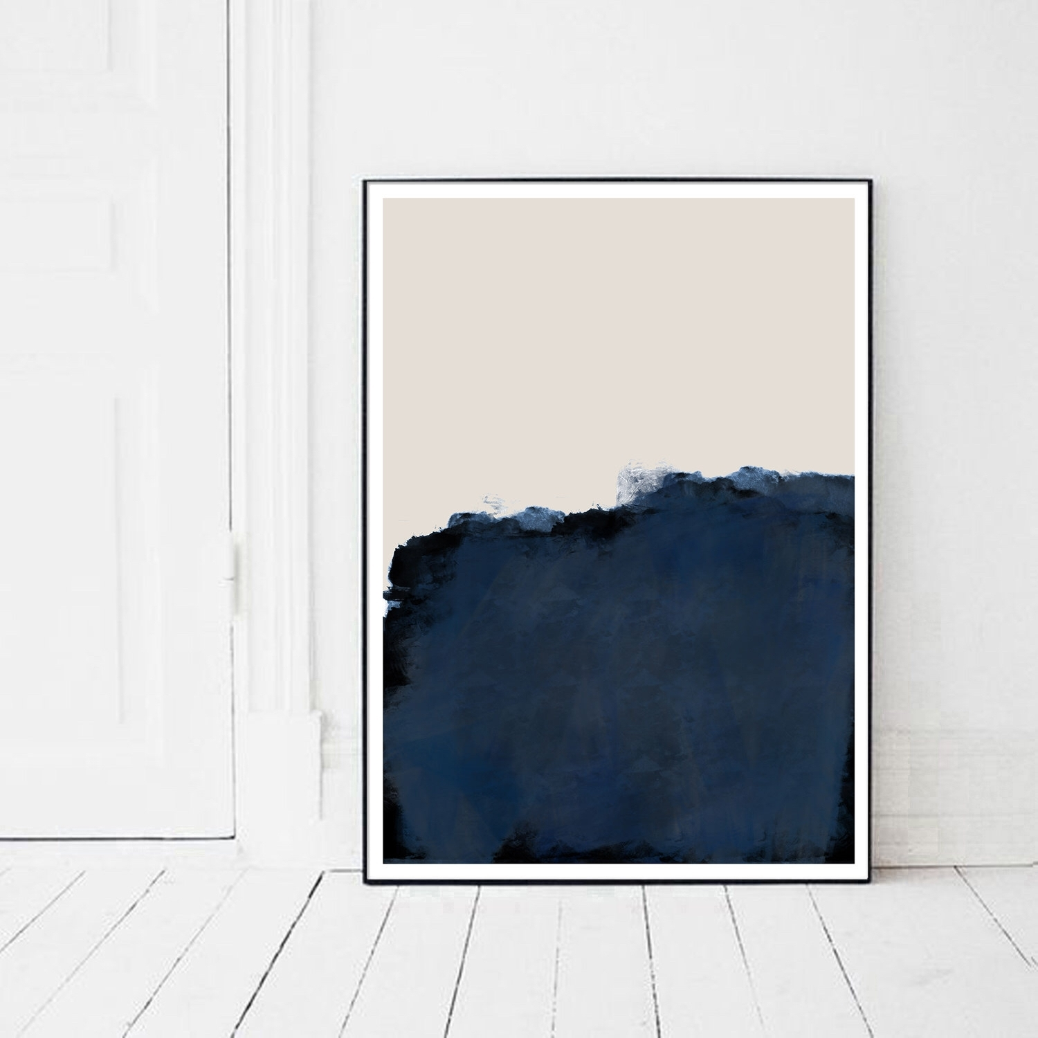 Printable Art, Indigo Print, Navy Blue Artwork, Indigo Abstract Intended For Most Recently Released Abstract Wall Art Posters (View 18 of 20)