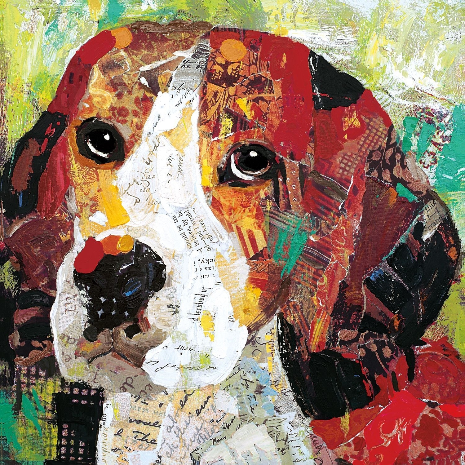 Put Your Love For Beagles On Display When Decorating With This for Latest Abstract Dog Wall Art