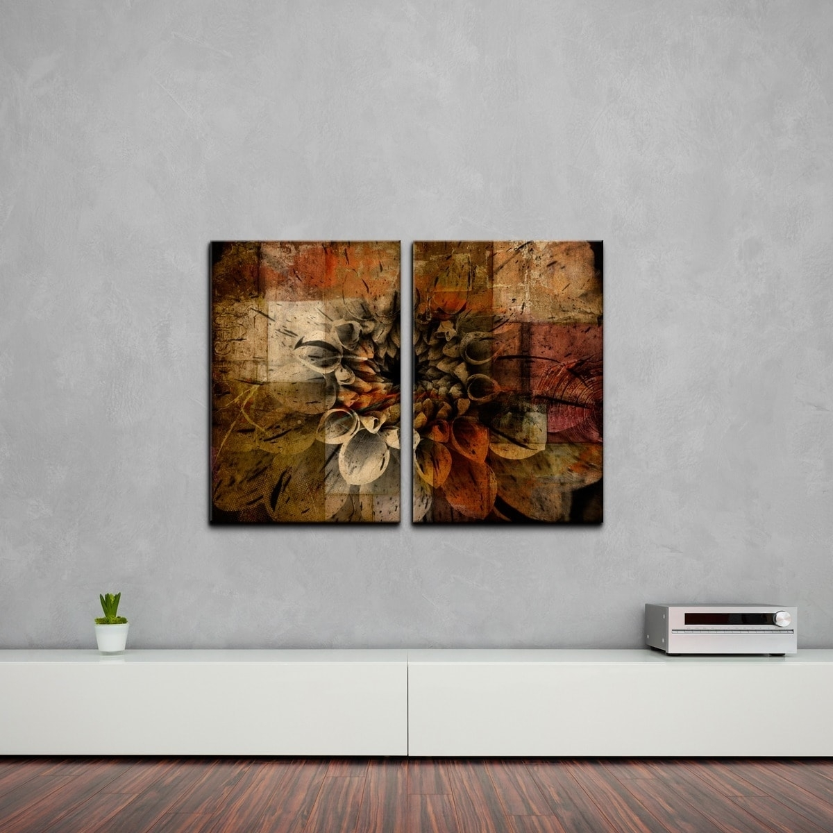 Ready2hangart 'daisy' Multi Panel Oversized Abstract Canvas Wall With Most Popular Overstock Abstract Wall Art (Gallery 16 of 20)
