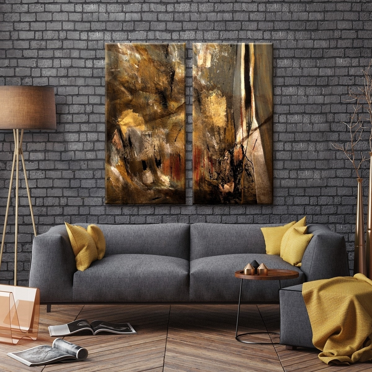 Ready2Hangart 'etabx I' 2 Piece Abstract Oversized Canvas Wall Art Pertaining To 2018 Abstract Oversized Canvas Wall Art (Gallery 20 of 20)