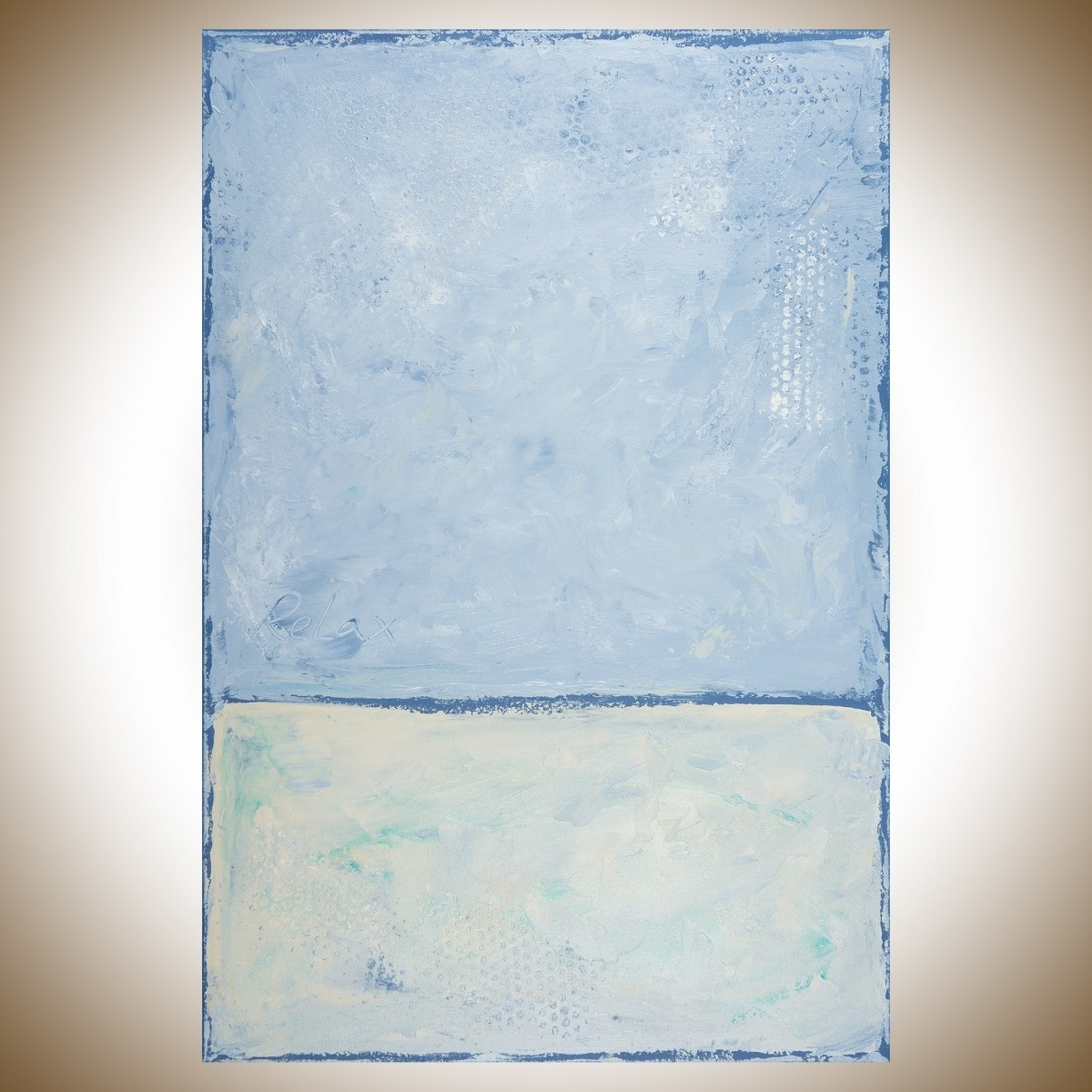"""Relaxqiqigallery 36""""x24"""" Original Modern Abstract Wall Pertaining To 2017 Blue Canvas Abstract Wall Art (View 16 of 20)"""