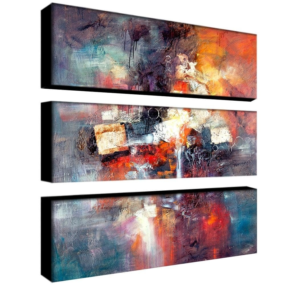 Rio 'cube Abstract Iii' 3 Piece Art Set – Free Shipping Today For Most Current Overstock Abstract Wall Art (Gallery 11 of 20)