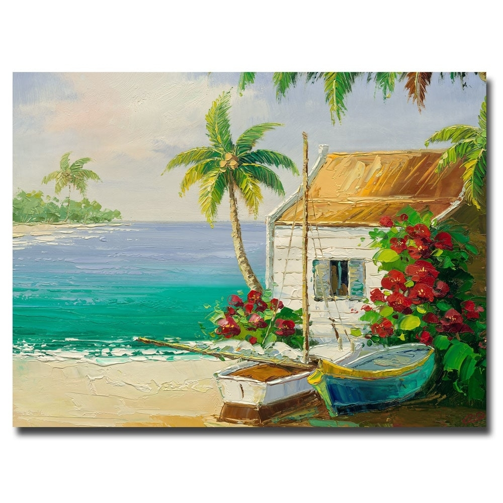 Rio 'key West Breeze' Canvas Art – Free Shipping Today – Overstock Inside 2017 Overstock Abstract Wall Art (View 4 of 20)