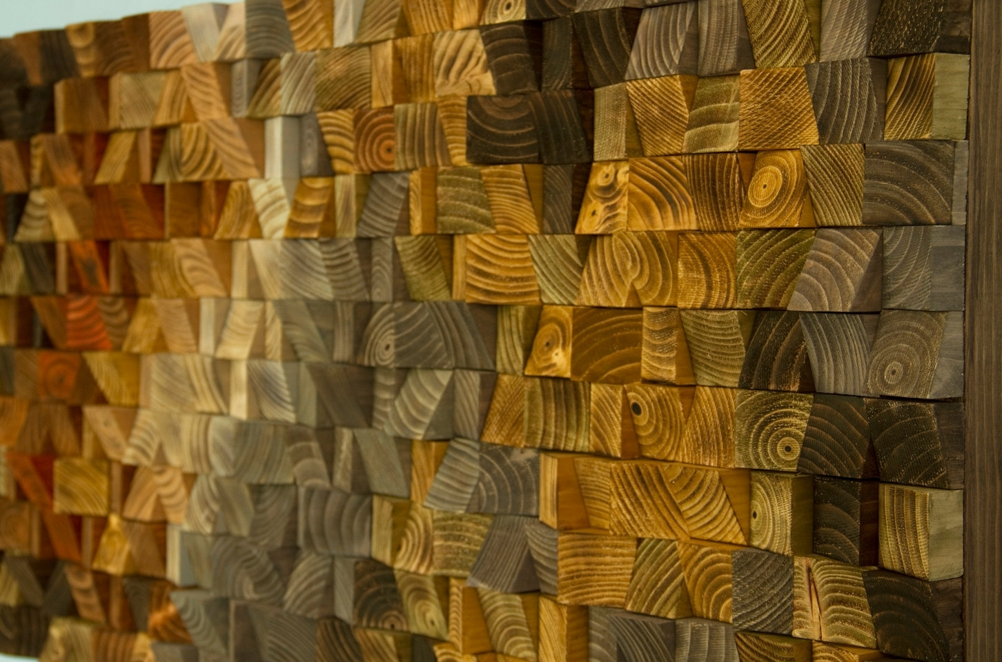 Rustic Wood Wall Art, Wood Wall Sculpture, Abstract Wood Art Mosaic Intended For Most Recently Released Abstract Mosaic Art On Wall (Gallery 3 of 20)