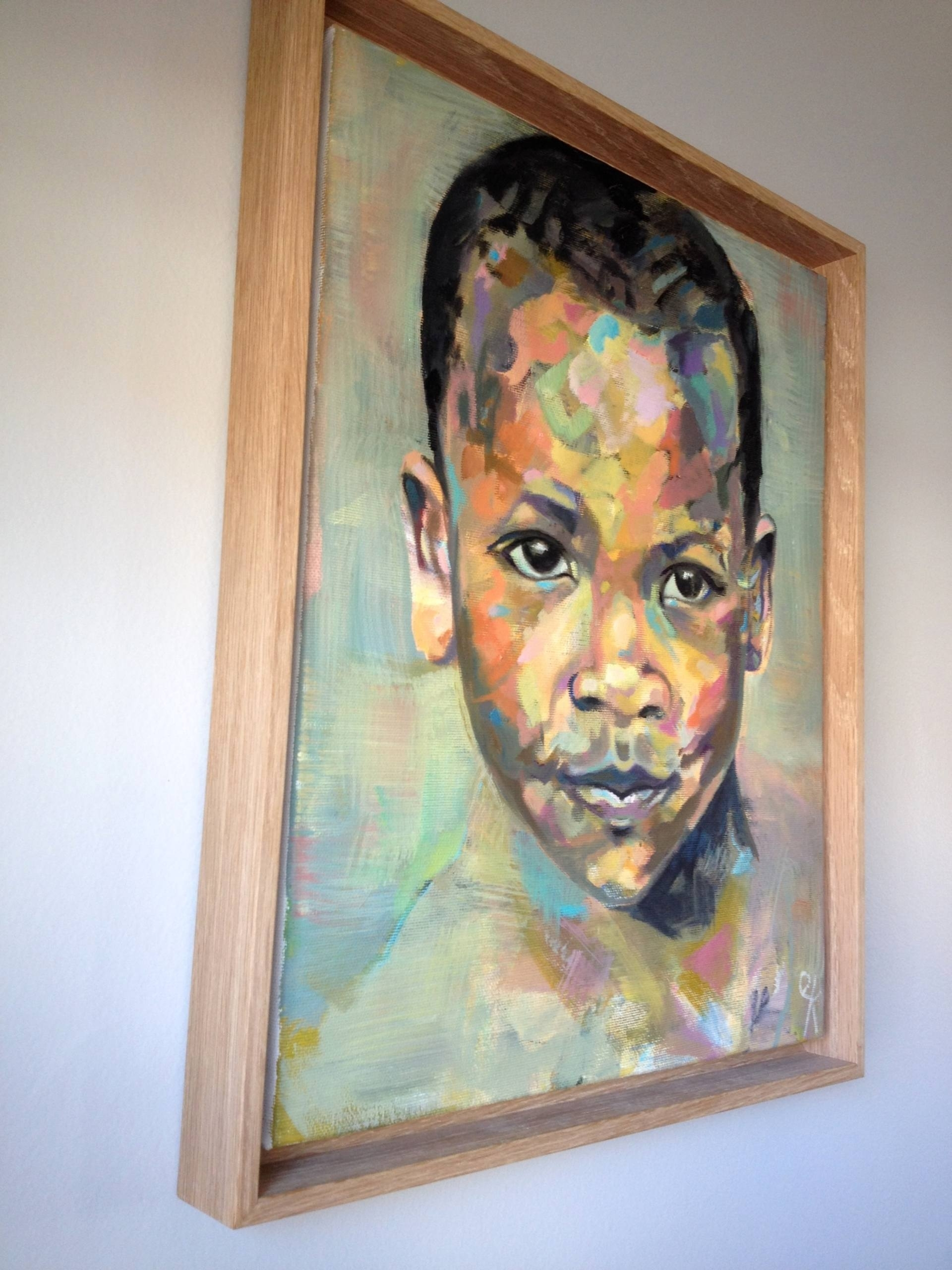 Saatchi Art: Child In The Market – Sold Paintingemily Kirby Intended For Latest Kirby Abstract Wall Art (View 11 of 20)