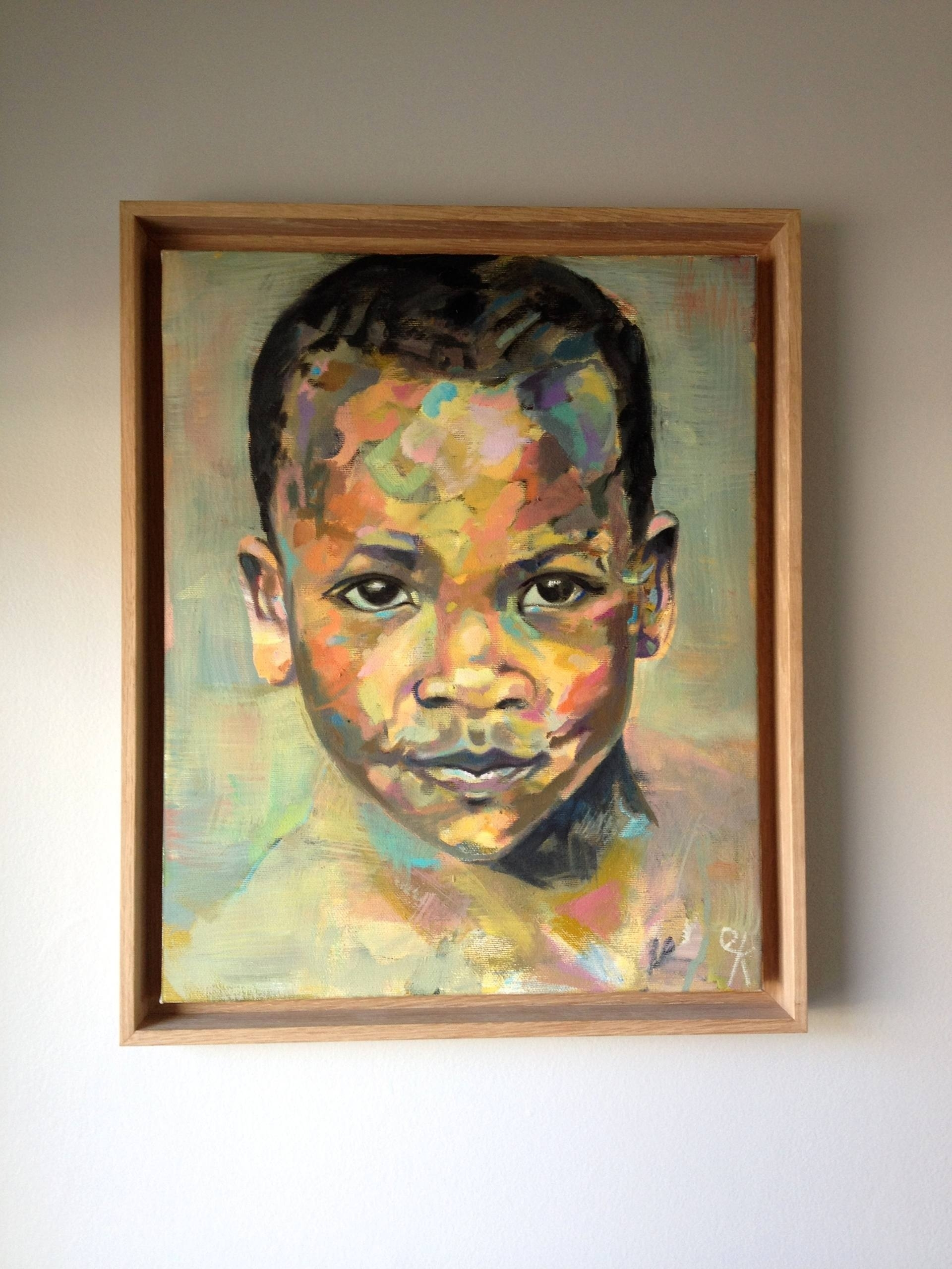 Saatchi Art: Child In The Market – Sold Paintingemily Kirby Pertaining To Current Kirby Abstract Wall Art (View 7 of 20)