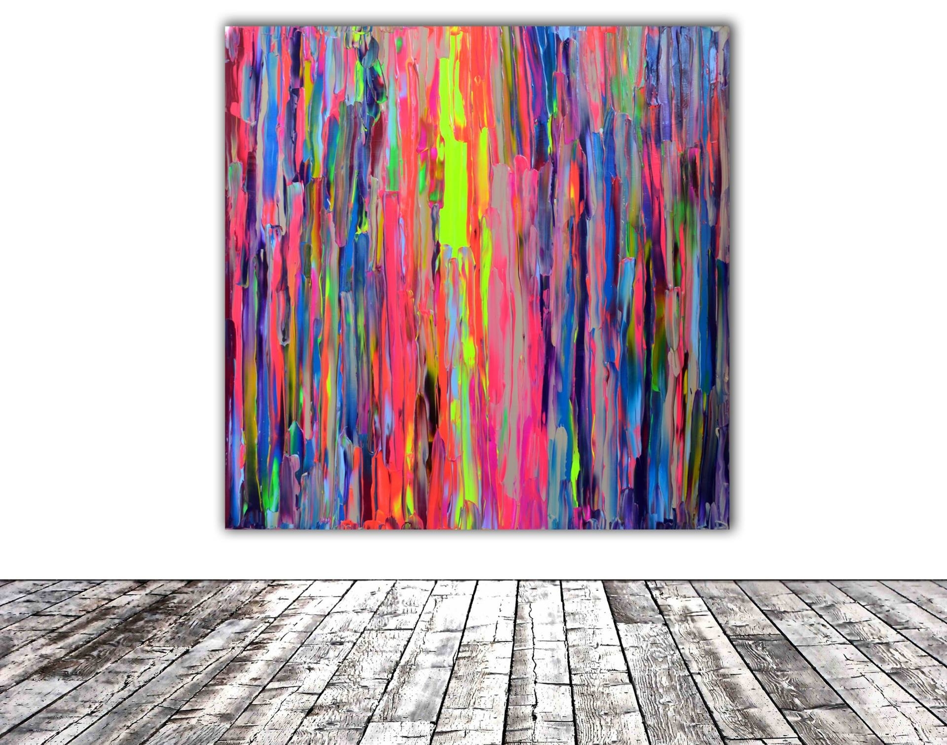 Saatchi Art: Gypsy Happiness – 100X100 Cm Xl Big Painting, Large With Regard To Most Current Happiness Abstract Wall Art (View 18 of 20)