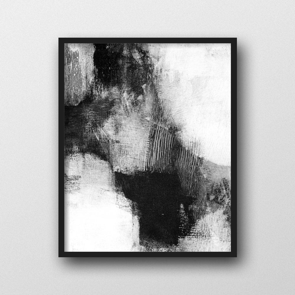 Scandinavian Print, Abstract Wall Art Prints, Black & White Wall Pertaining To 2018 Black And White Abstract Wall Art (View 8 of 20)