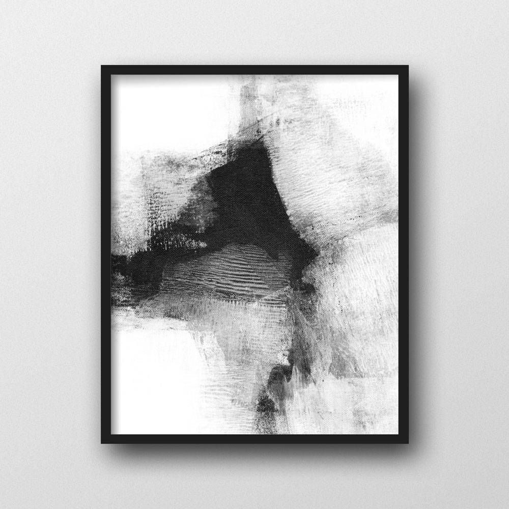 Scandinavian Print, Black & White Wall Art, Modern Art, Abstract Inside Current Black And White Abstract Wall Art (View 16 of 20)