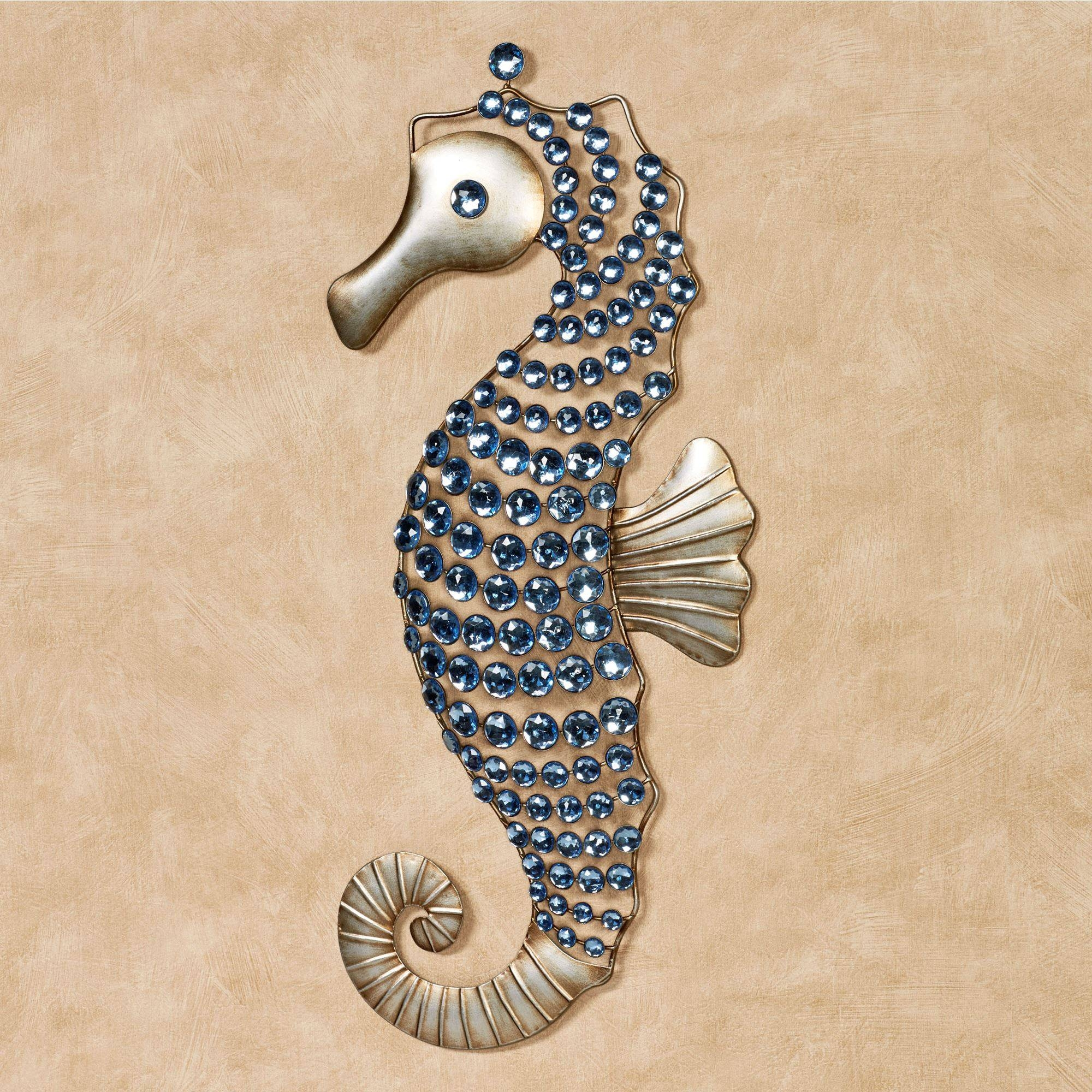 Seahorse Gems Metal Wall Art For Current Outdoor Coastal Wall Art (View 15 of 20)