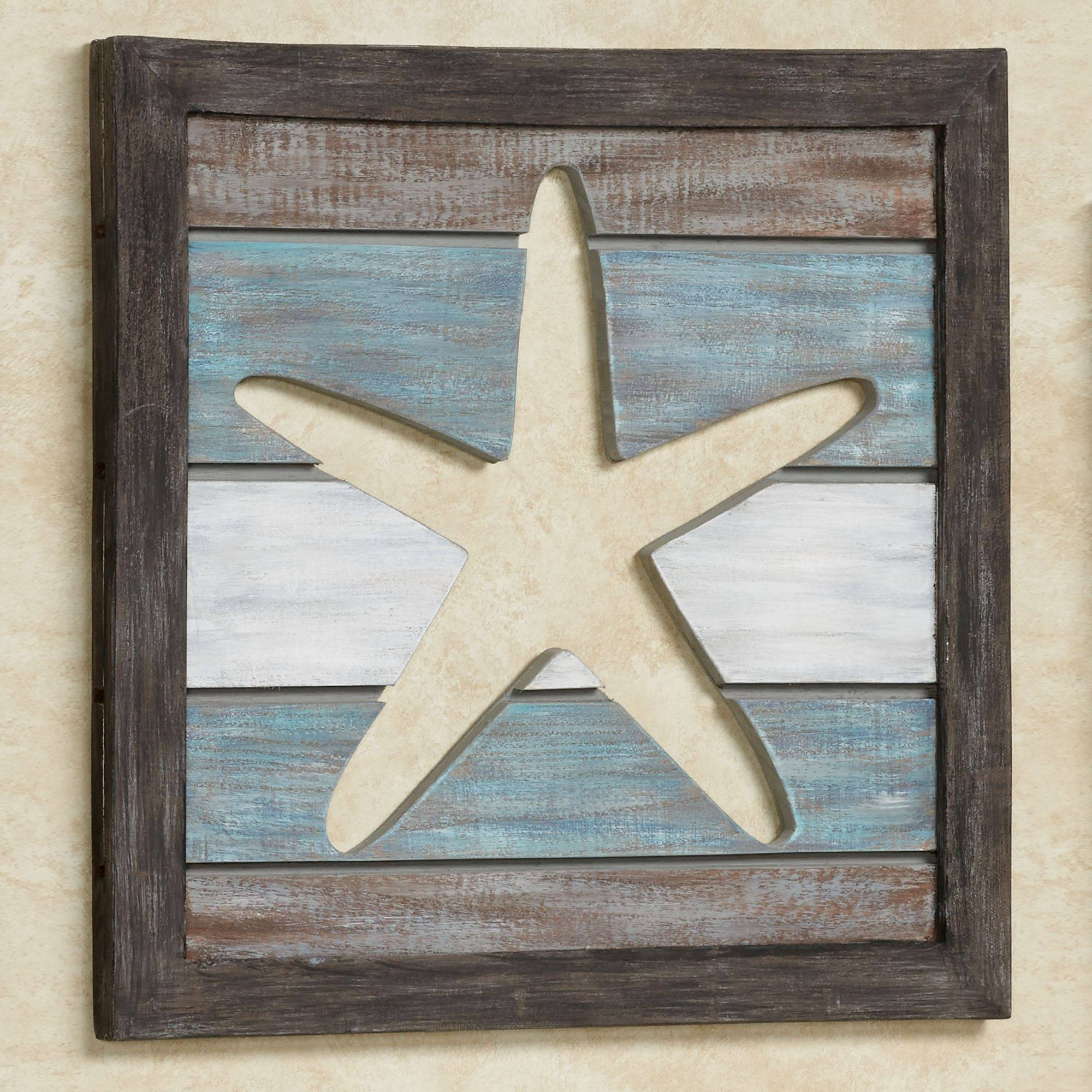 Sealife Cutout Slat Indoor Outdoor Coastal Wall Art Within Best And Newest Outdoor Coastal Wall Art (View 19 of 20)