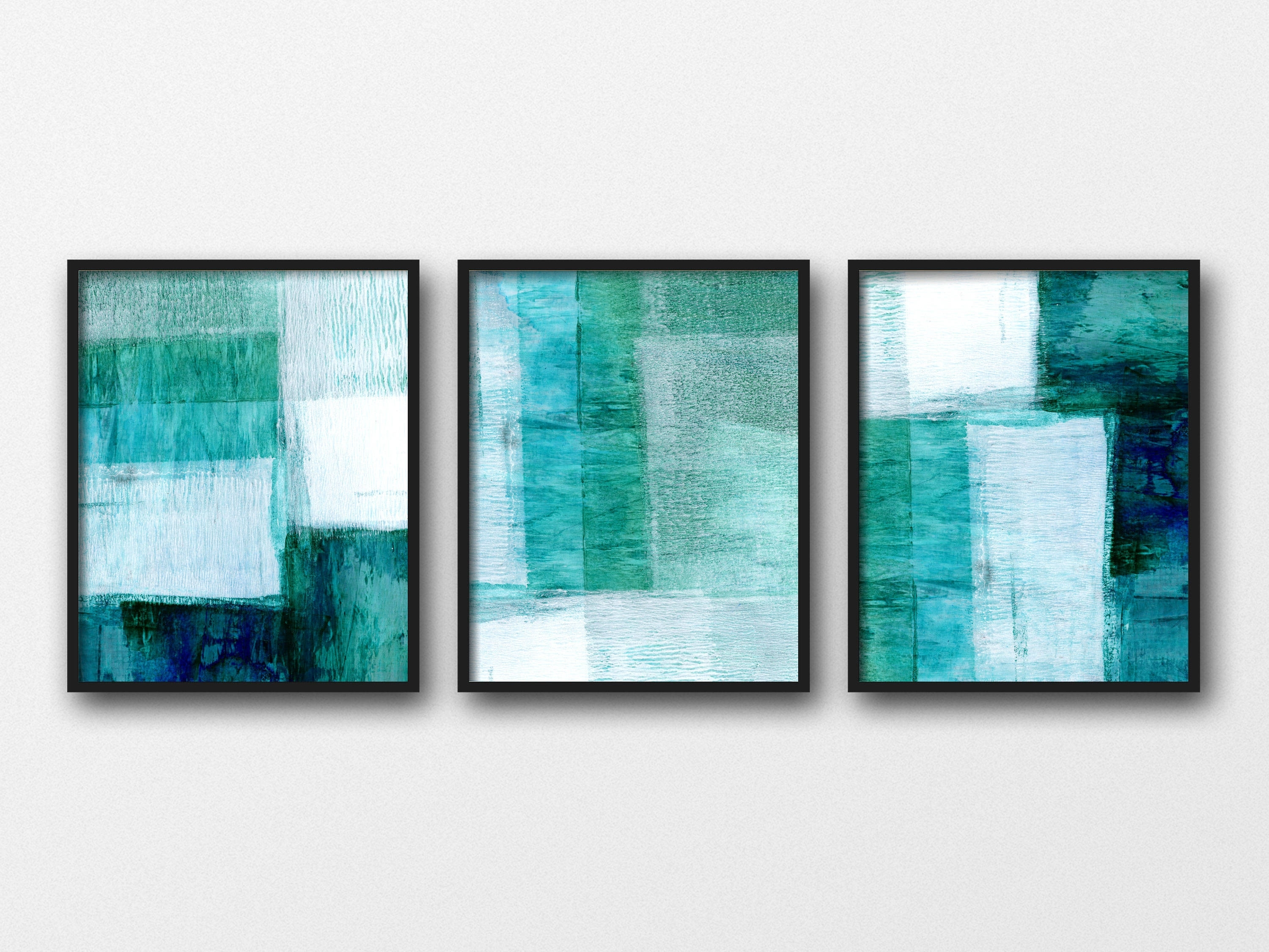 Set Of 3 Prints, Abstract Art, Scandinavian Prints, Geometric Art Intended For Recent Blue Abstract Wall Art (View 18 of 20)