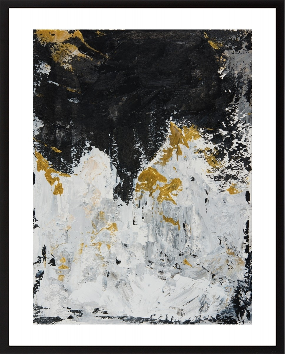 "Set Of Two 18"" X 12""qiqigallery Original Diptych Art Gold With Regard To Most Recently Released Black And Gold Abstract Wall Art (View 15 of 20)"