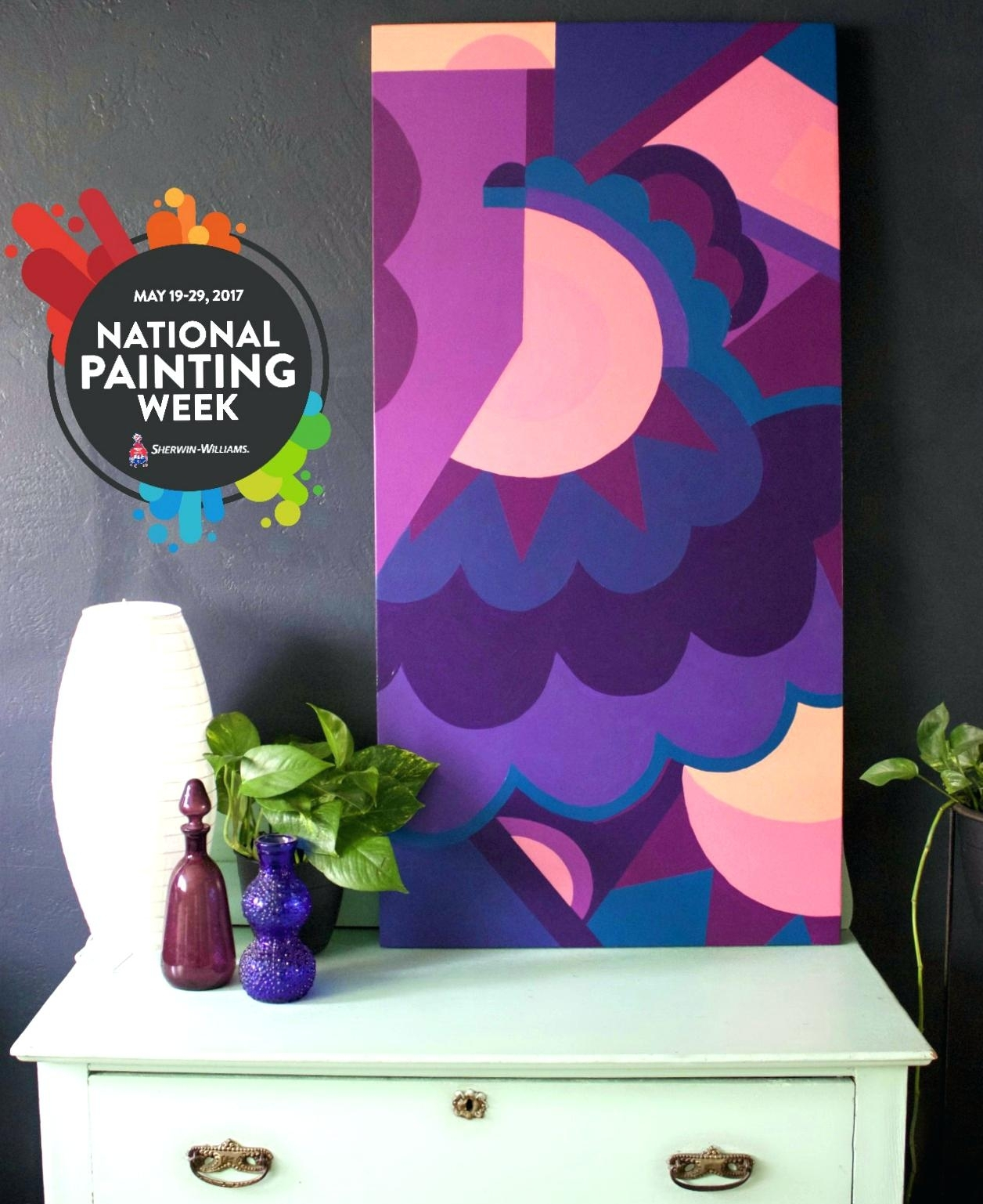Sherwin Williams Wall Decals Make Art With Abstract Art Wall With Regard To Current Abstract Art Wall Decal (View 15 of 20)