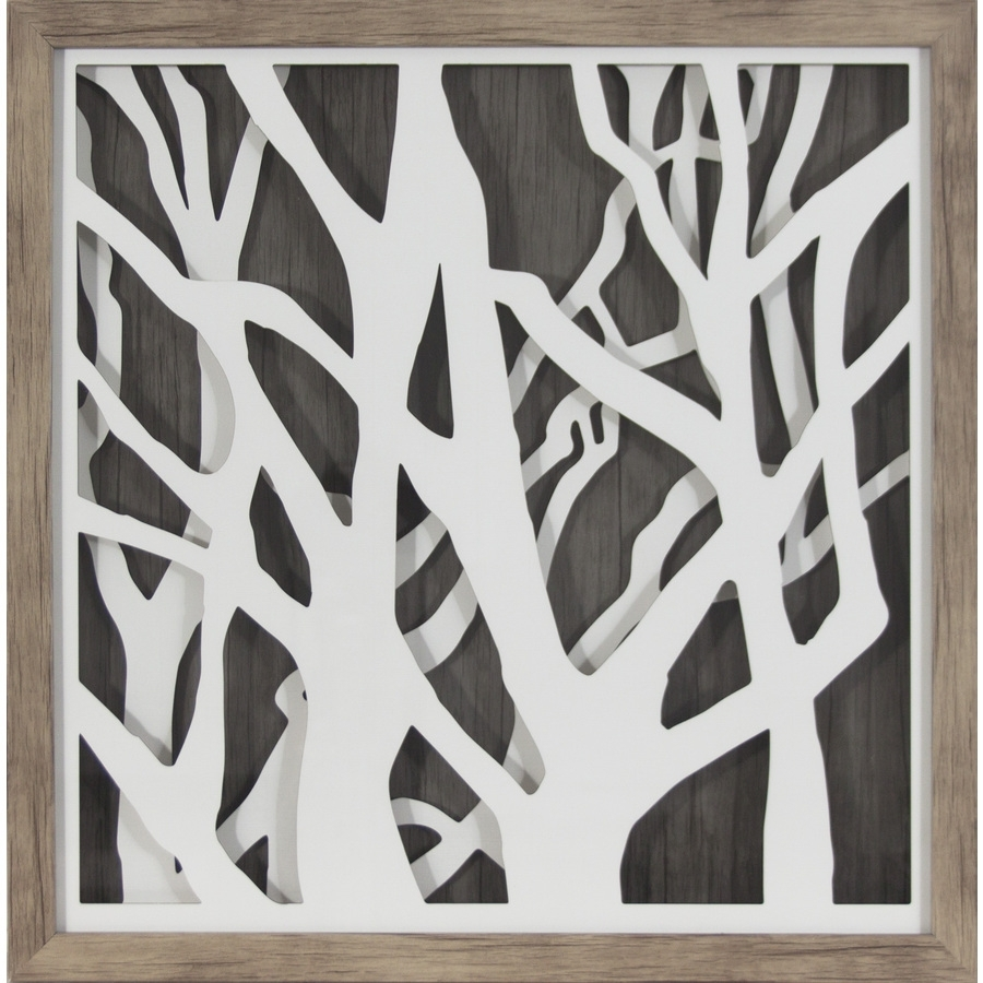 Shop 20 In W X 20 In H Framed Abstract Print At Lowes In Most Recent Black And White Abstract Wall Art (View 17 of 20)