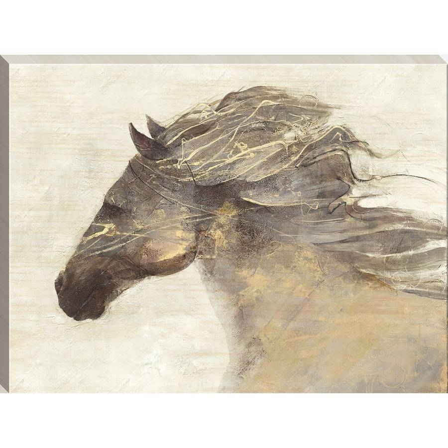 Shop 24 In W X 18 In H Frameless Wood Animal Print Wall Art At For Best And Newest Wood Animal Wall Art (View 17 of 20)