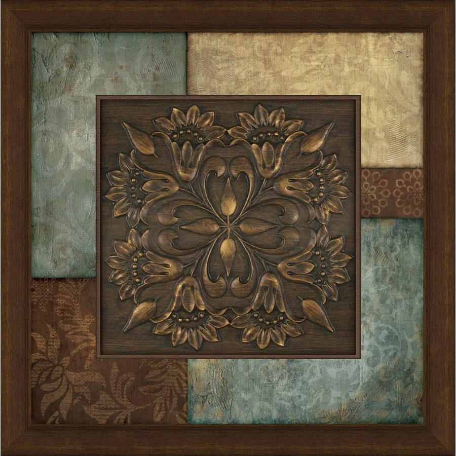 Shop 27 In W X 27 In H Framed Abstract Print At Lowes Regarding Recent Brown Abstract Wall Art (View 18 of 20)