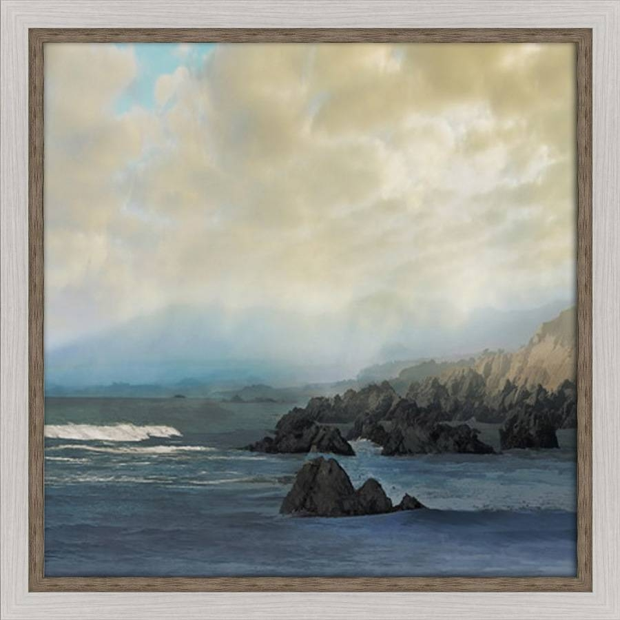 Shop 30 In W X 30 In H Framed Coastal Print Wall Art At Lowes Inside Current Framed Coastal Wall Art (View 11 of 20)