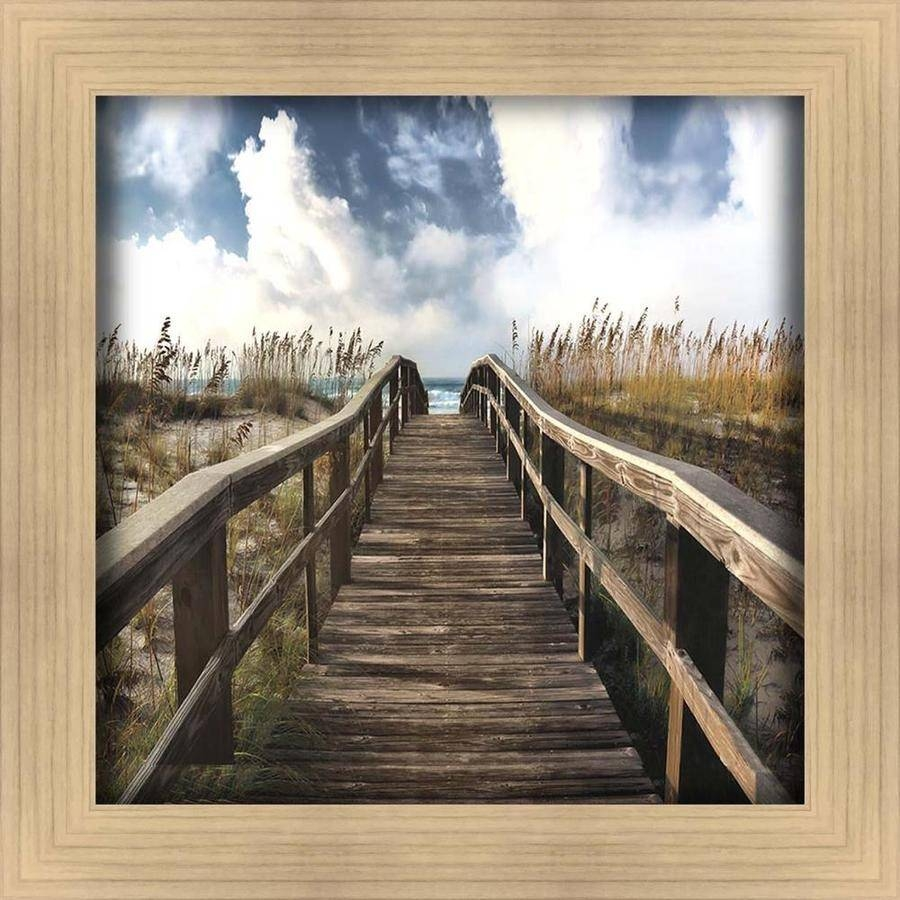 Shop 34 In W X 34 In H Framed Coastal Print Wall Art At Lowes For Best And Newest Framed Coastal Wall Art (View 12 of 20)