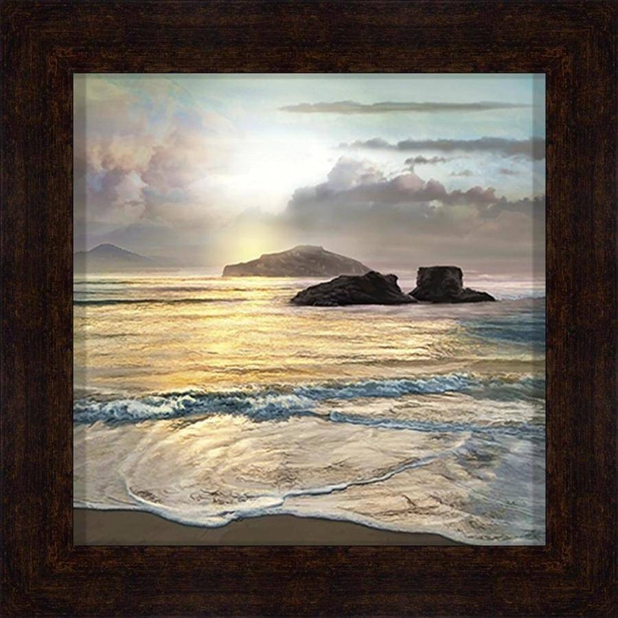 Shop 34 In W X 34 In H Framed Coastal Print Wall Art At Lowes With Regard To Most Current Framed Coastal Wall Art (View 13 of 20)