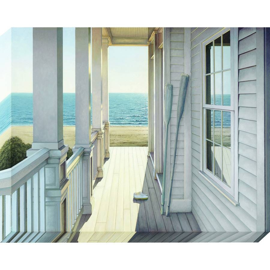 Shop 38 In W X 30 In H Frameless Canvas Coastal Wall Art At Lowes In Most Current Coastal Wall Art Canvas (View 15 of 20)