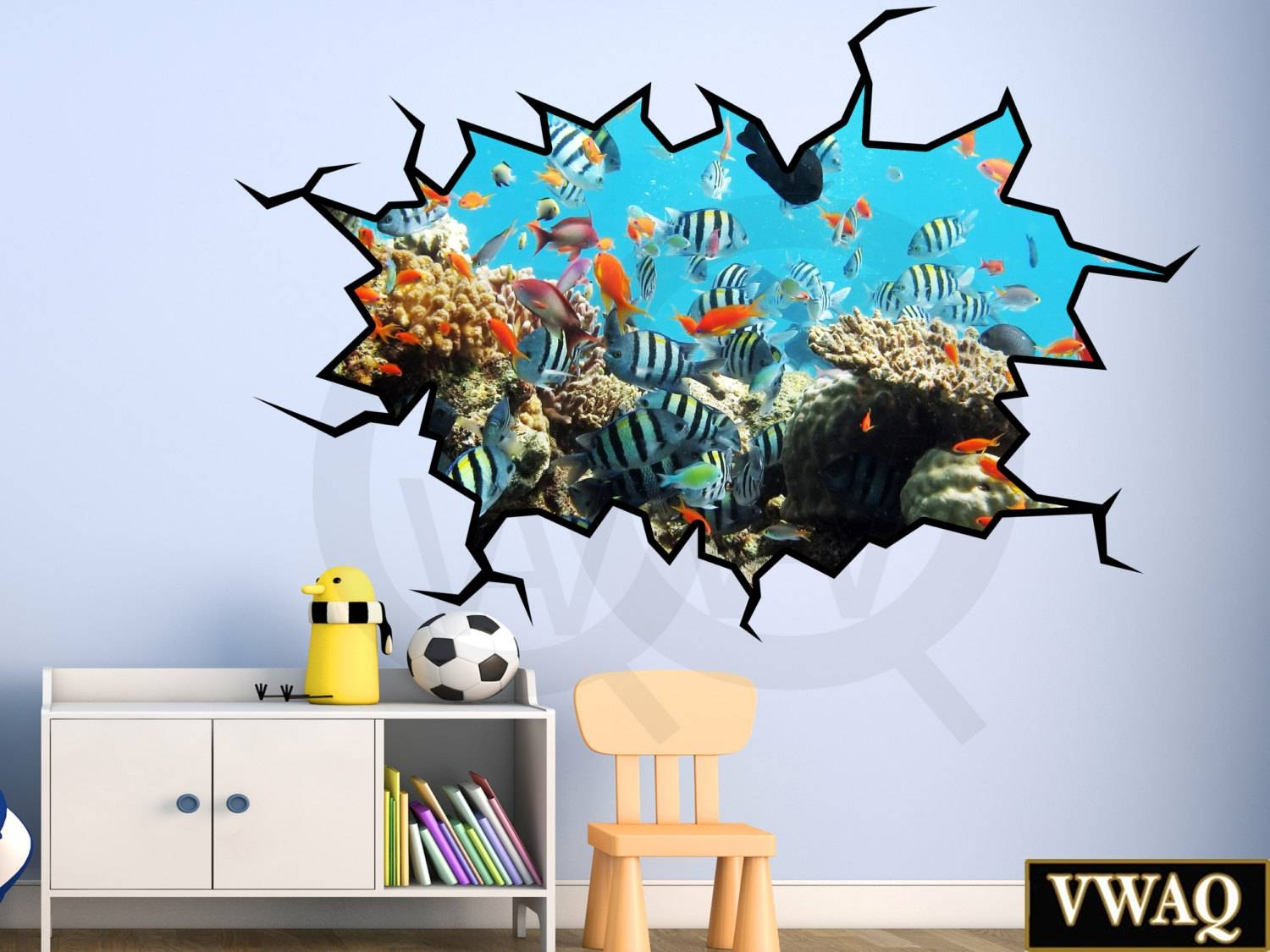Shop Animal Wall Decals Vwaq Inside Most Current 3d animal Wall Art (View 18 of 20)