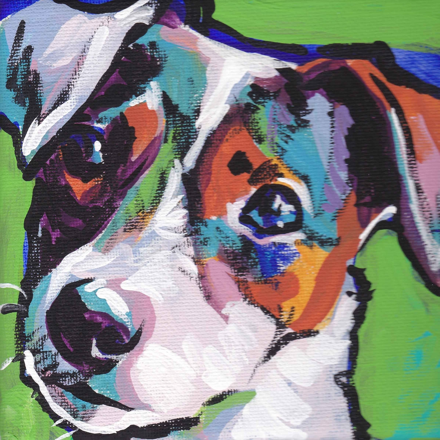 Smooth Jack Russell Terrier Art Print Pop Dog Art Bright Colors With 2018 Abstract Dog Wall Art (View 15 of 20)