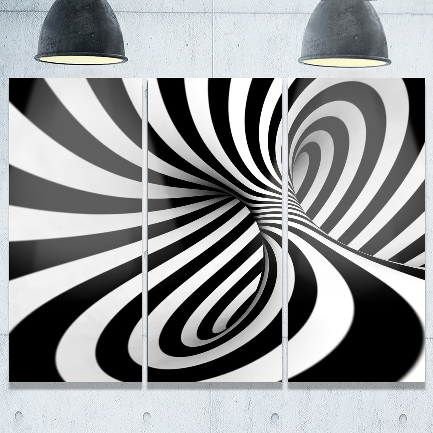 Spiral Black N' White – Abstract Art Glossy Metal Wall Art – Free With Latest Black And White Abstract Wall Art (View 7 of 20)