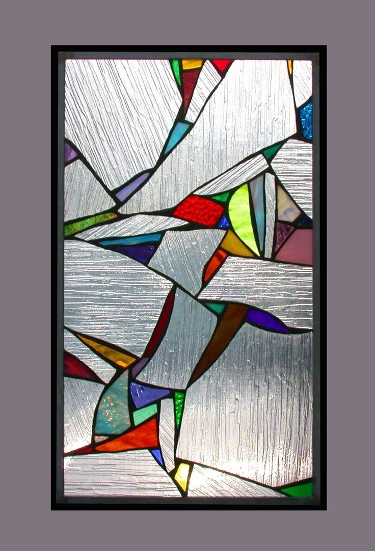 20 ideas of abstract fused glass wall art